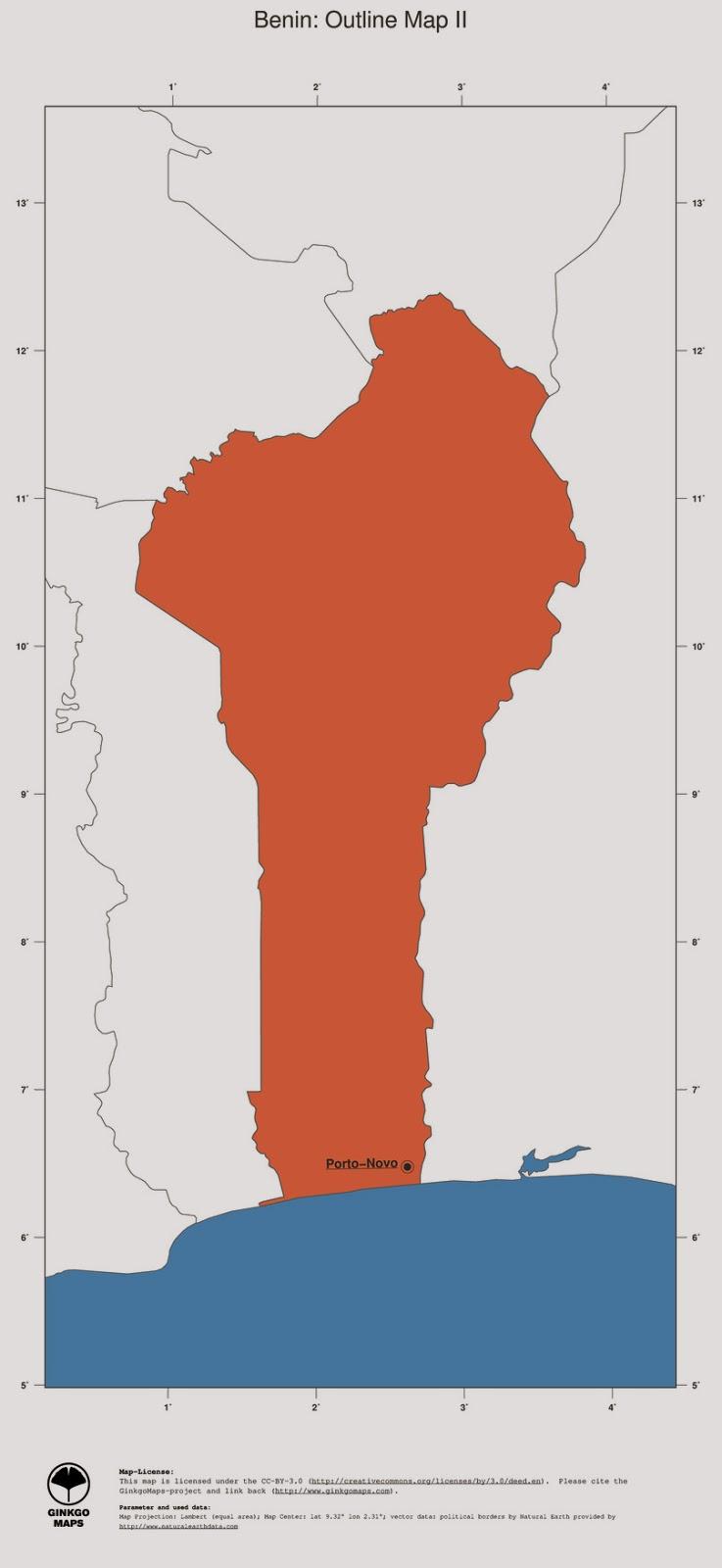 free maps download Benin map