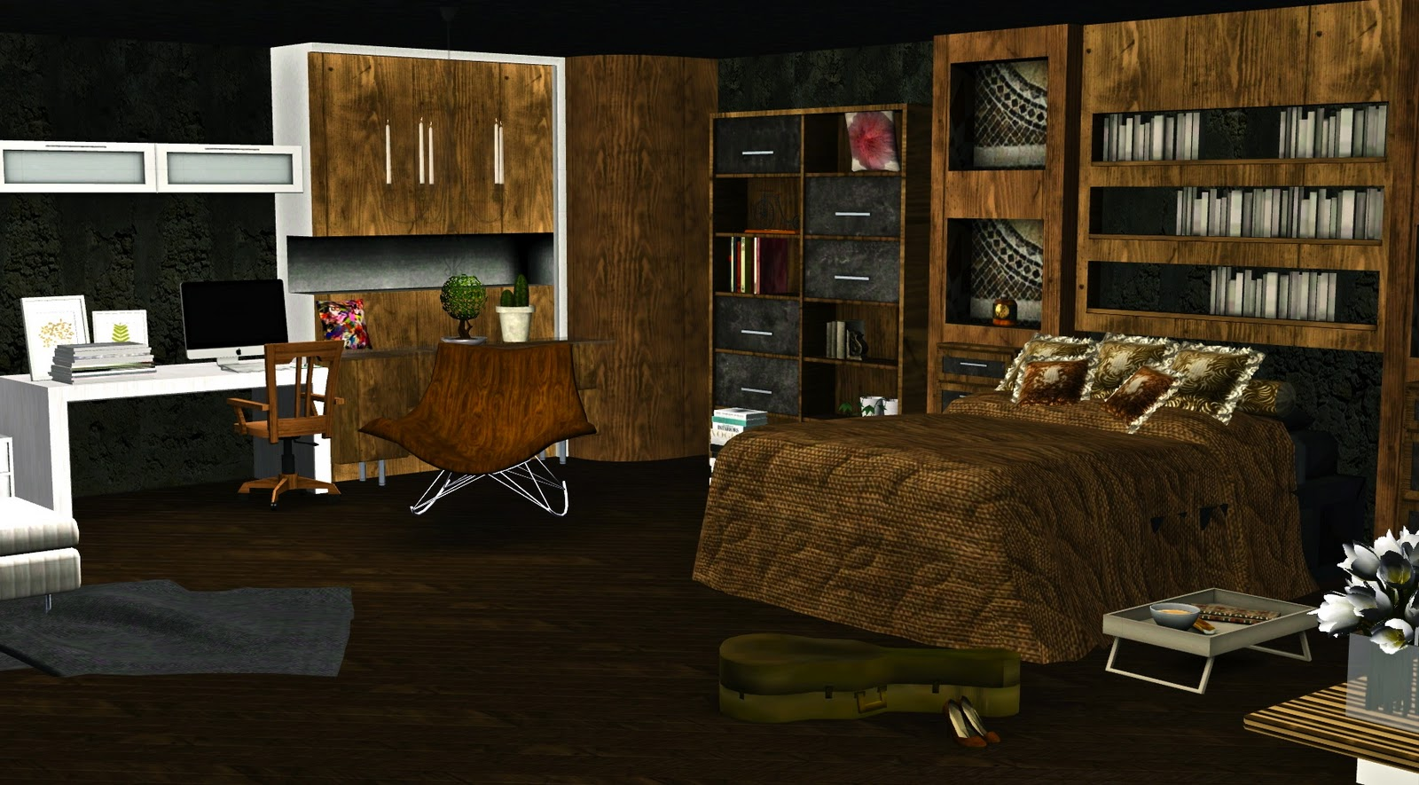 le blog de guijobo ambiance chambre chalet du lac. Black Bedroom Furniture Sets. Home Design Ideas