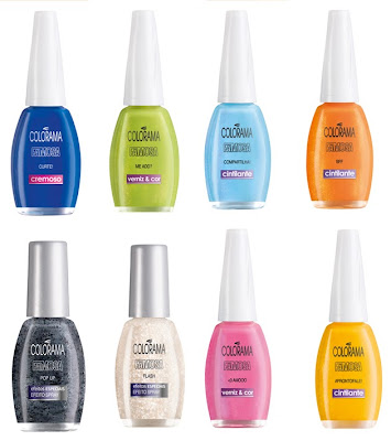 quais as cores novas esmaltes Colorama?