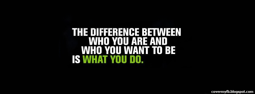 Difference Between Quote Facebook Cover   Facebook Covers
