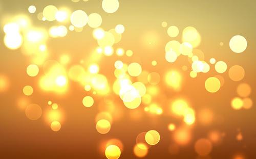 cahaya lingkaran abstrak