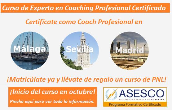 Curso de Experto en Coaching. Plazo de matrículas abierto para Málaga, Sevilla y Madrid