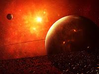 1024x768, planet, star, hot, sun, ateroid, wallpaper