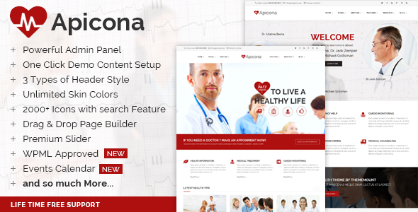 Apicona - Health & Medical WordPress Theme