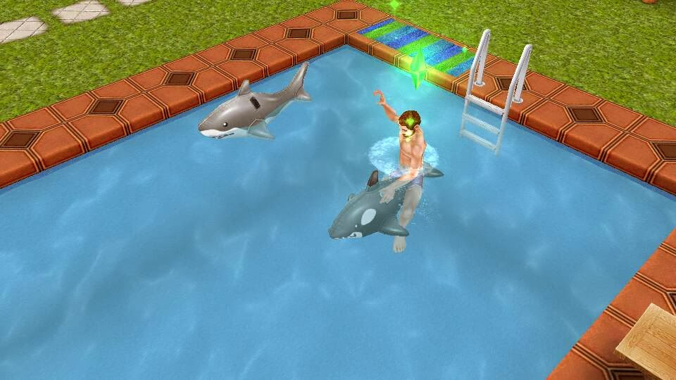 Los sims freeplay fan soluciones dar un paseo en la for Colchonetas para piscina