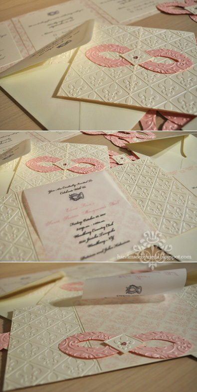 Sweet 16 Masquerade Invitations in Dusty Rose, Ivory and ...