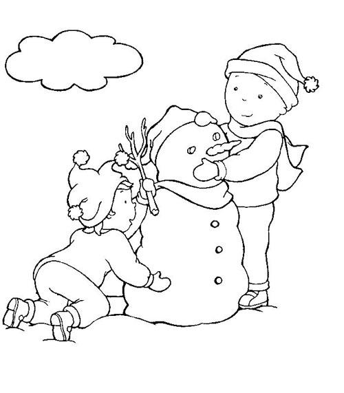 Blog de los niños: Caillou hace un muñeco de nieve