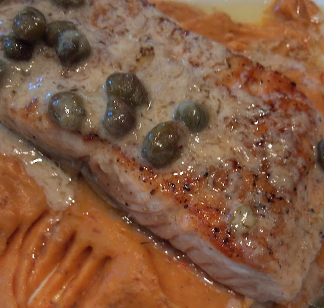 Seared Salmon with Lemon Caper Brown Butter Sauce Recipe
