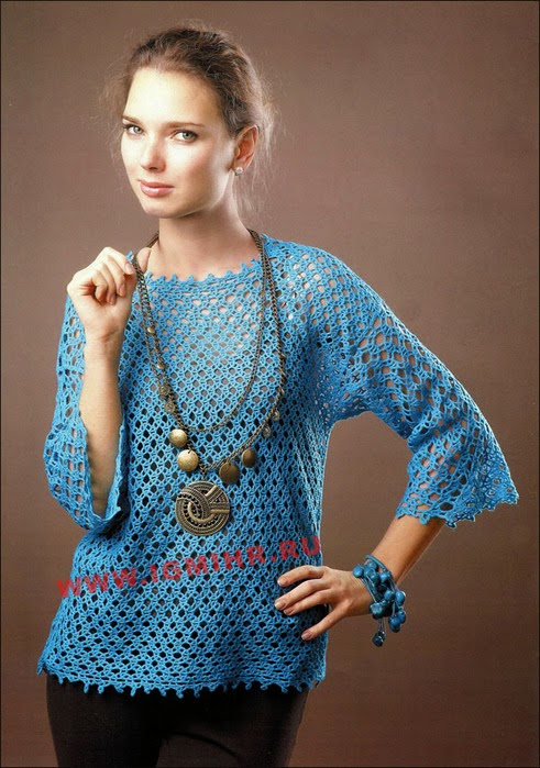 Túnica talles especiales al crochet