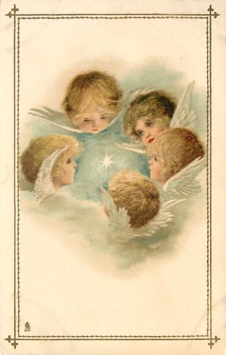 Старинные открытки с нем ангела 610