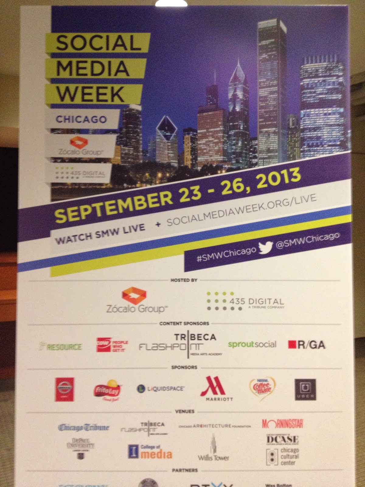 Social Media Week Chicago September 23- 26, 2013