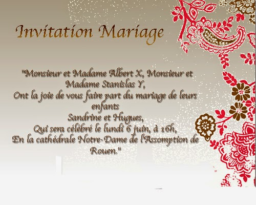 Carte invitation mariage original