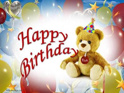 Happy Birthday oso peluche