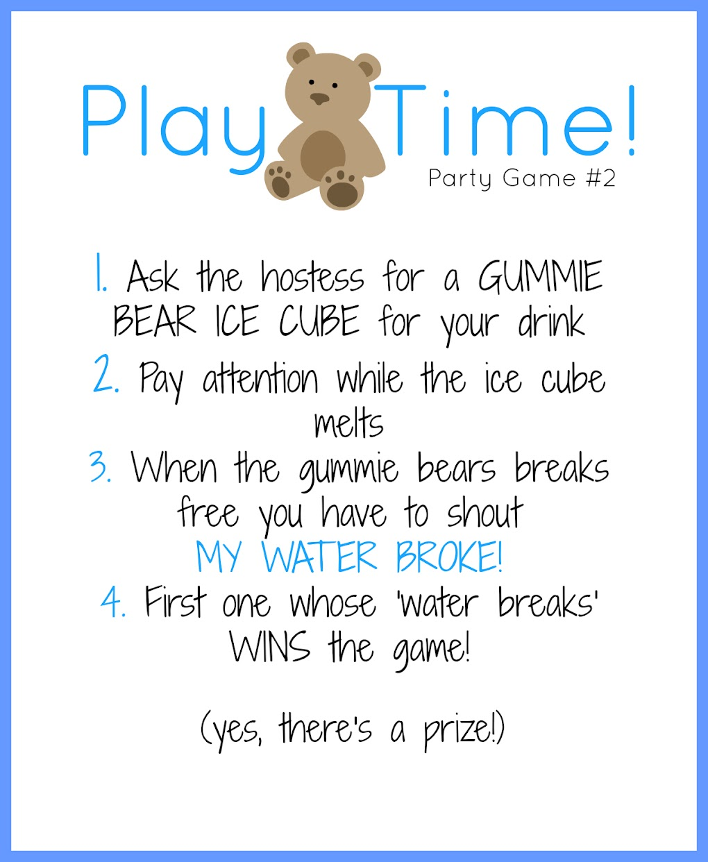 Baby Showers Games For Guys ~ Free printable baby shower games for boys image caption