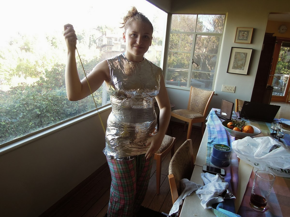 how to make a body form out of duct tape