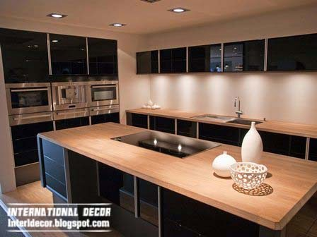 For the interior of the kitchen in a modern ... & Interior Design 2014: Modern black kitchen designs ideas furniture ...