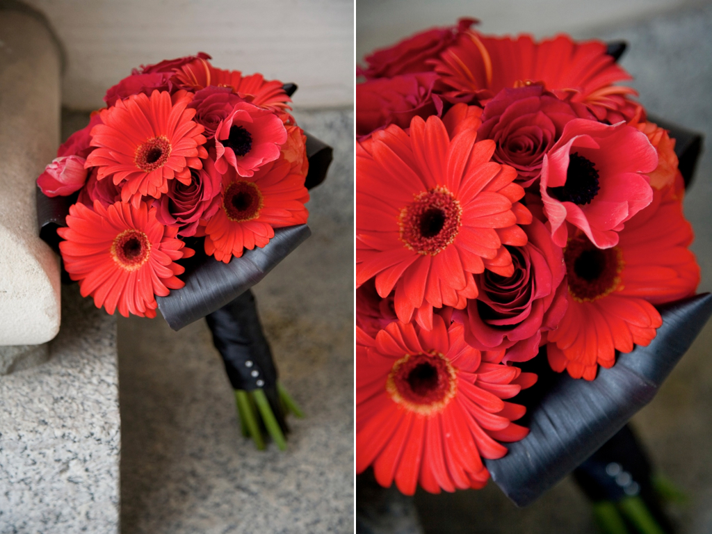 Wedding Bouquets Red And Black : Calie rose kristi jakes wedding flowers