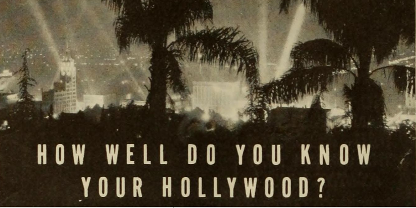 How well do you know your Hollywood? The Roaring Twenties