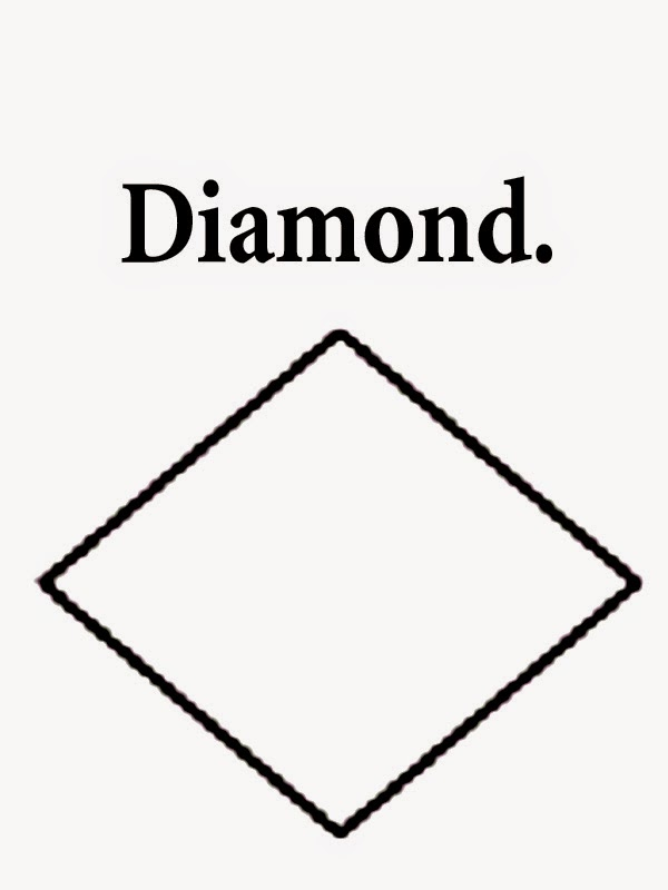 Free geometry shapes diamond printable simple drawings for Sunday ...