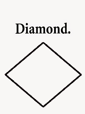Free geometry shapes diamond printable simple drawings for Sunday school kids coloring with remarks
