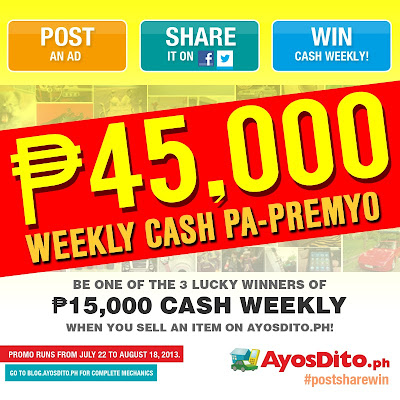 [PRESS RELEASE] Post, Share and Win Promo #WinCash Edition on AyosDito.ph