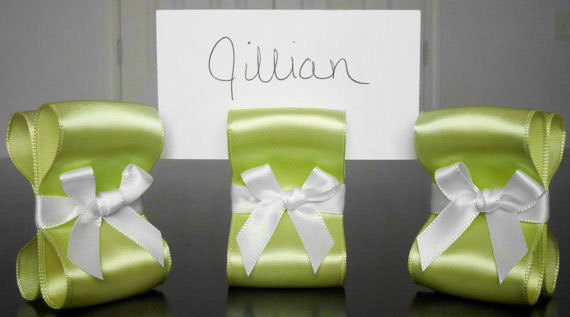 Wedding Ribbons Place Cards and Escort Cards