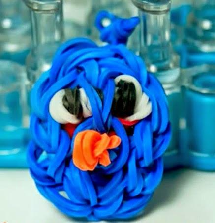 Cómo hacer un angry bird azul con gomitas de colores