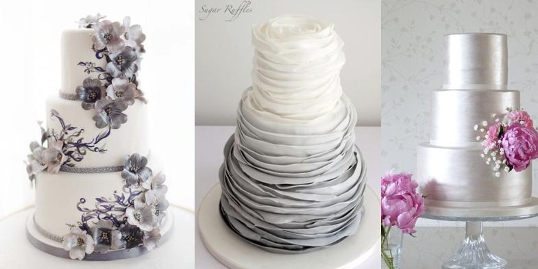 Как сделать торт серебряный 455
