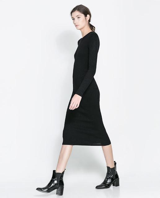 uzun kol siyah maksi elbise