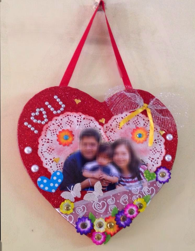 handmade heart wall hanging