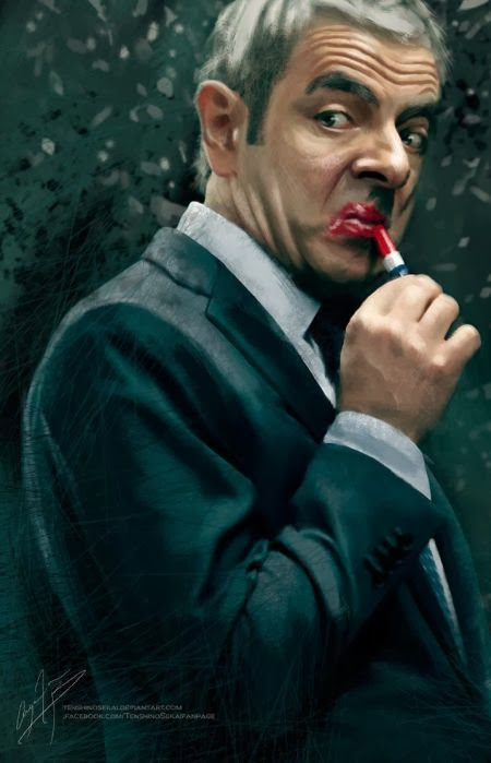 Angela Bermudez deviantart pinturas filmes cultura pop cinema Rowan Atkinson como Johnny English em O Retorno de Johnny English (Johnny English Reborn)