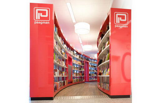 Paagman the Contemporist Bookstore Bookcase Design, Bookstore Design, Contemporist Bookstore Design, Unique Bookstore Design, Simple Bookstore Design, Interior Design, Simple Library Design, Contemporist Library Design, Contemporist Design, Design