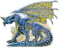 dragon azul en ceramica en frio