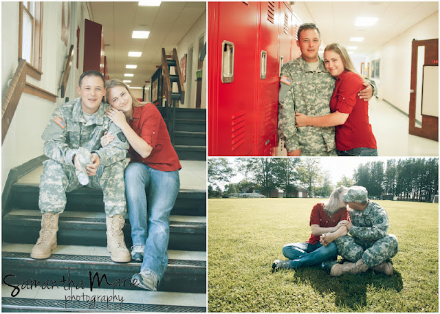 army couple at school where they met