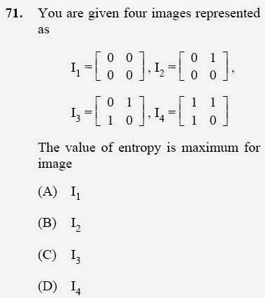 2012 December UGC NET in Computer Science and Applications, Paper III, Question 71
