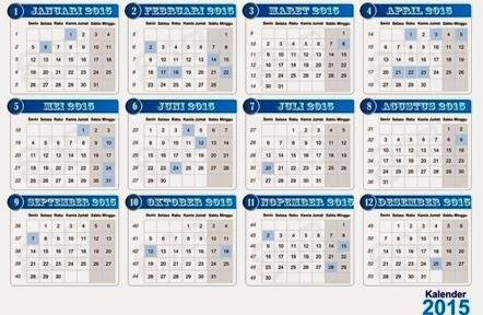 Template Kalender 2015