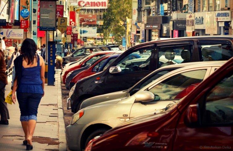 Famous Brigade Road in Bangalore (© Jim Ankan Deka)