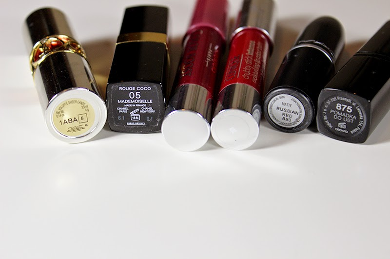 My favourite lipsticks for fall and winter time