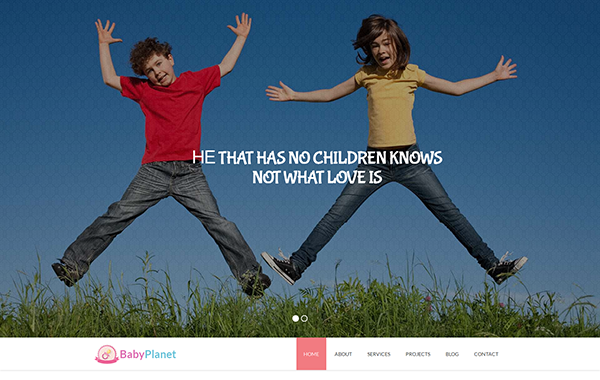 Baby Planet – Beautifully Kids HTML Template