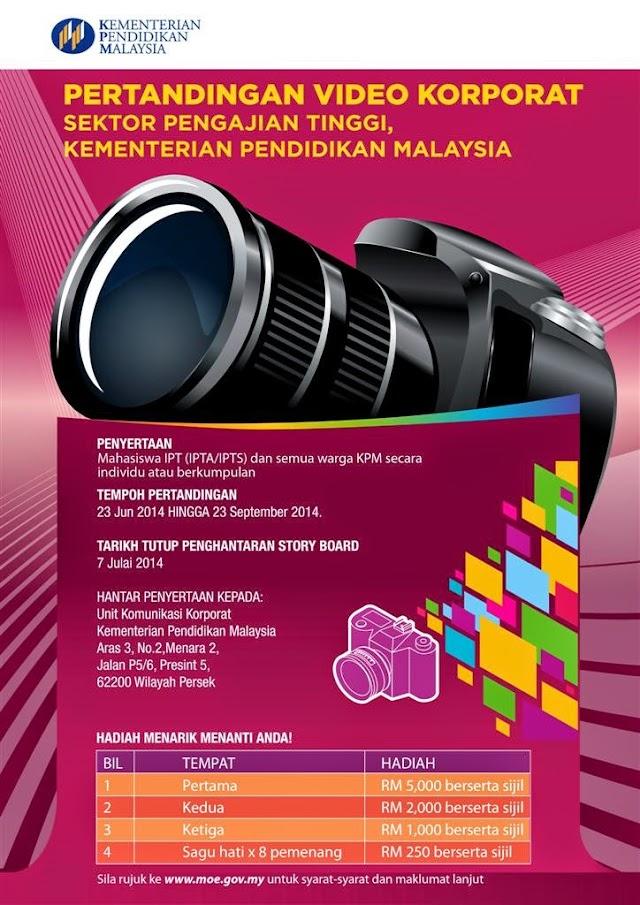Pertandingan Video Korporat Sektor Pengajian Tinggi KPM 2014