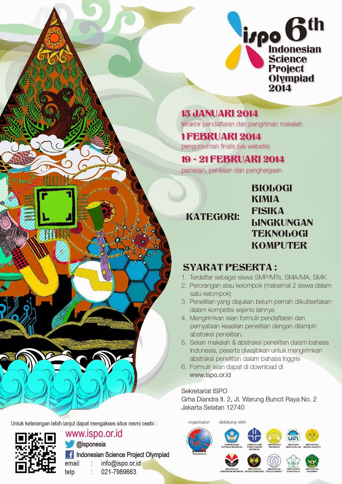 Selamat untuk para peraih Mendali ISPO 2014 (Indonesian Science Project Olympiad)