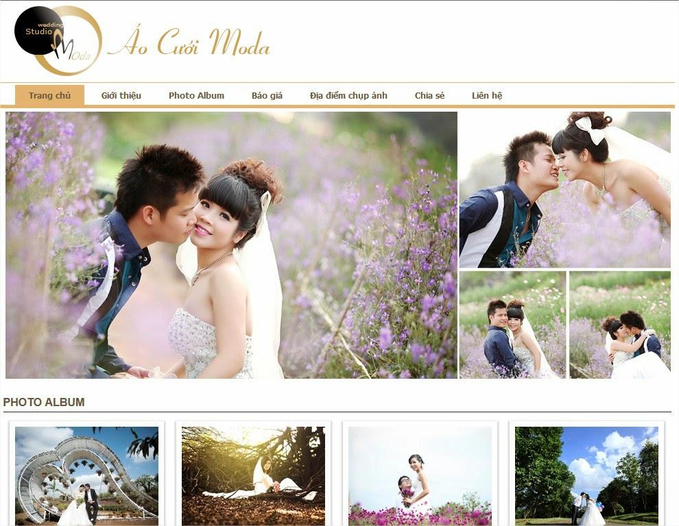 thiết kế website bán hàng váy cưới