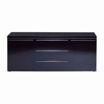 Meuble laqué noir conforama – Table de lit a roulettes