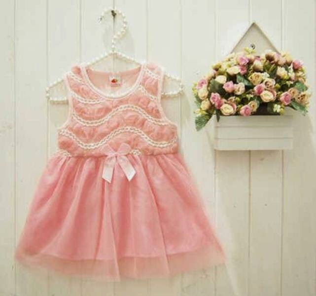 Baju anak cantik model tutu dress warna pink