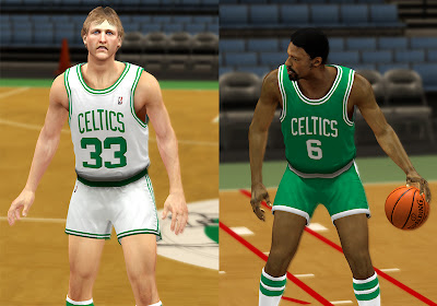 NBA 2K13 Boston Celtics Retro Jersey Mod