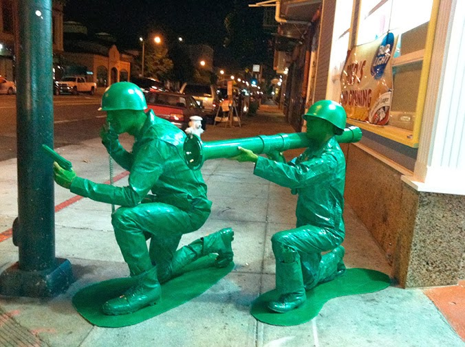 Green Army Men, In Real Life.