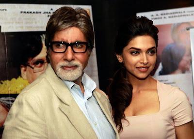 Deepika Padukone & Big B Promote Aarakshan Movie Pics!