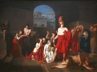 Cuadro de Teseo después de matar al Minotauro
