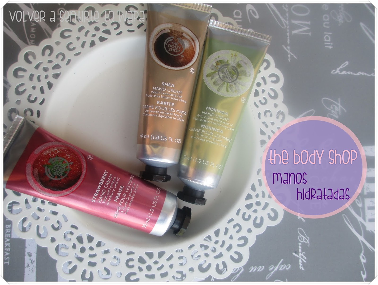 Mini-Cremas de manos HIDRATANTES de THE BODY SHOP