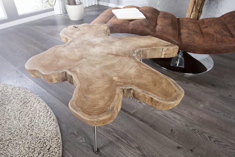 interierovy masivny stolik z dreva, moderny stolik do obyvacky